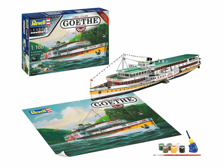 Revell 05232 Rhine Steamer Goethe,Ship Model Construction Set 1 160,Geschenkset