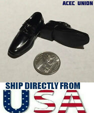 "1/6 Moc Toe Oxford Shoes For 12"" Hot Toys Phicen Male Figures - U.S.A. SELLER"
