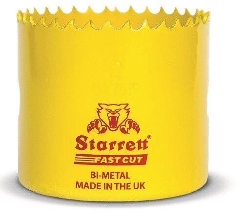 Starrett 70mm Fast Cut HSS Bi-Metal Holesaw cuts Wood Plastic Metal Hole Saws
