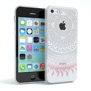 Huelle-fuer-Apple-iPhone-5C-Schutz-Cover-Handy-Case-Motiv-Weiss-Rosa