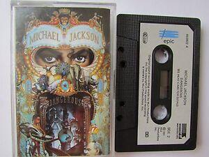 MICHAEL-JACKSON-039-DANGEROUS-039-CASSETTE-1991-EPIC-PAPER-LABEL-TESTED