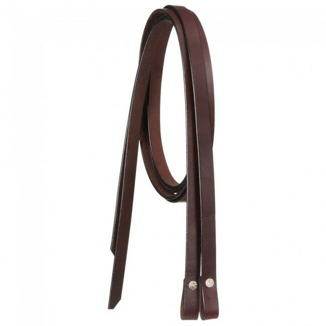 Royal King Large Horse Draft Dark Oil Heavy Duty Leather Split Reins 80 - 82