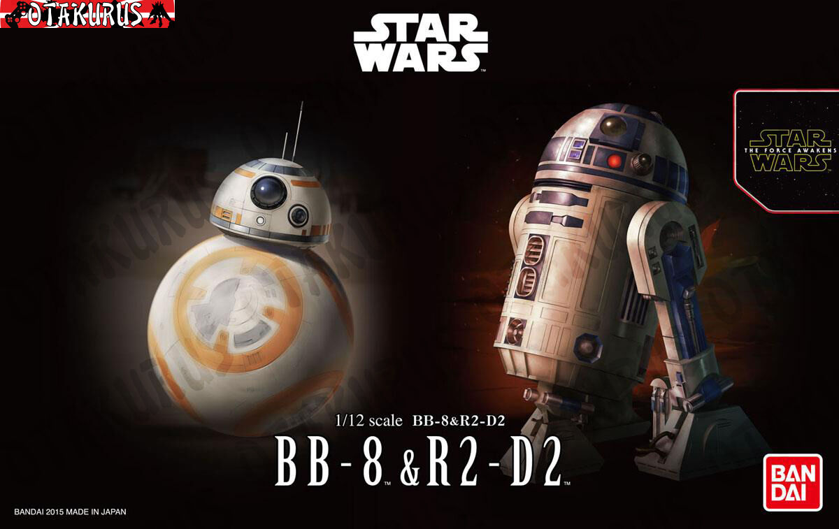 BB-8 & R2-D2 Droids Star Wars The Force Awakens Scale 1 12 Model Bandai