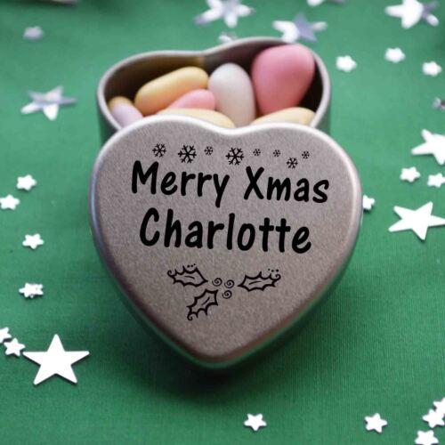 Merry Xmas Charlotte Mini Heart Tin Gift Present Happy Christmas Stocking Filler