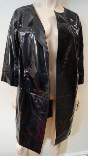 Wool Coat Sz York Mac Donna Dkny Black Sheen New Karan Women's m Blend Trench PwYqU6w