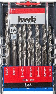 KWB Balkenbohrer Holzspiralbohrer extra lang 400 mm SB-Tasche CV-Stahl Ø 10,0 mm
