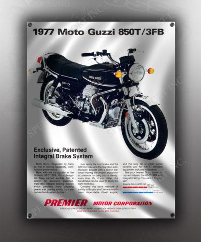 VINTAGE MOTO GUZZI 1977 850T MOTORCYCLE BANNER