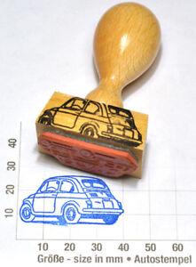 Fiat-500-Oldtimer-Heckansicht-1957-1977-Autostempel-rubberstamp