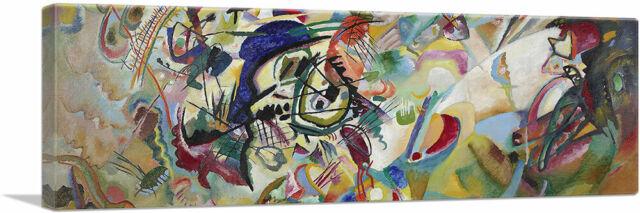 WASSILY KANDINSKY NEL BLU  OILPAINT WALL ART  RE PRINT ON FRAMED CANVAS PICTURE