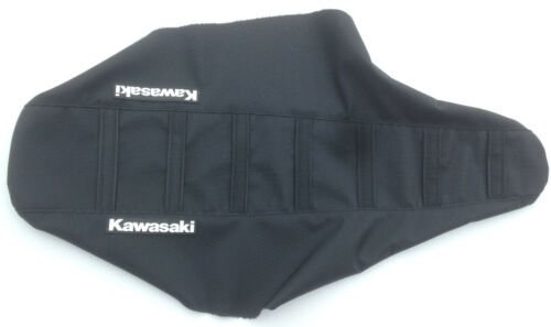 "New Black Ribbed /""Kawasaki/"" Seat cover KX80 KX85 KX100 1990-2012"