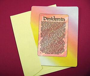 034-Desiderata-034-Poem-Keepsake-Enclosed-Card-Sku-633
