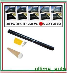 2-x-PELLICOLA-OSCURANTE-PER-VETRI-AUTO-NERO-35-50cm-x-3m-NUOVO