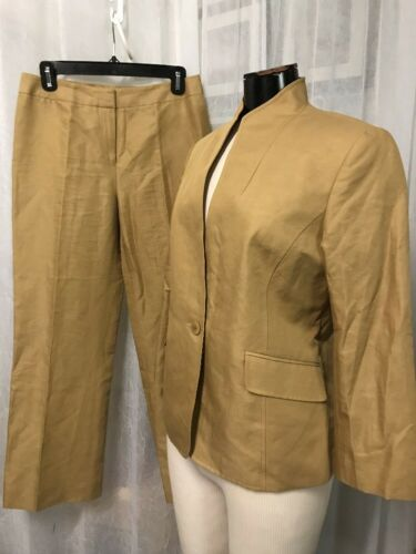 Lafayette 148 New York Women's Suit Beige Linen Bl