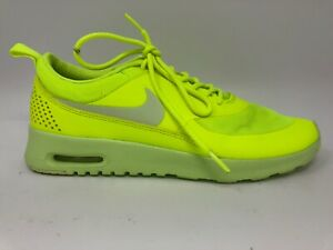 Details about Nike Airmax Thea Athletic Running Sneakers Neon Yellow Womens  Size 8.5