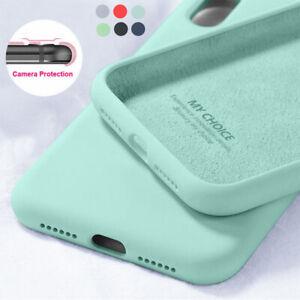 For iPhone 11 12 Pro Max 12 Pro SE 2020 XS X 8 7 Liquid Silicone Soft Case Cover
