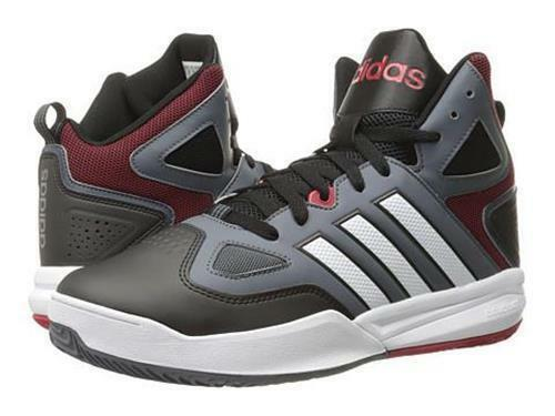 Adidas Neo Cloudfoam Red Thunder Mid Grey Black Red Cloudfoam Basketball Sneaker Shoes 13 ea0148