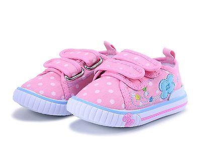 Primavera Verano Niñas Lona Zapatos Tenis De Entrenamiento Talla 8 Reino Unido Bebé Infantil Niño