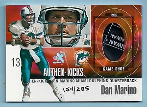 DAN-MARINO-1999-E-X-AUTHEN-KICKS-GAME-SHOE-PRIME-PATCH-285-DOLPHINS