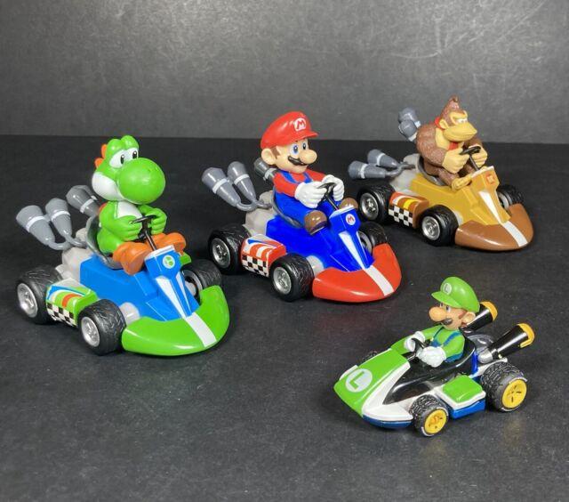 Super Mario Bros Kart Pull Back Racers Speed Bundle Donkey Kong Yoshi Luigi X4