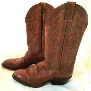 hot new products cheap top fashion Vintage Mens Justin Western Boots side Zipper Size 8 1/2 D Style ...