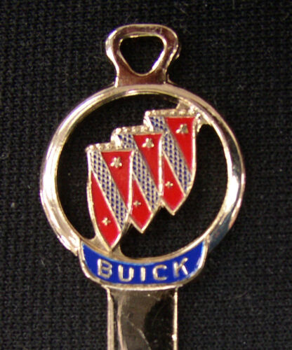 Rare Vintage Red Buick Tri Shield Gold Silhouette Key NOS 1956 1957 1958 1959