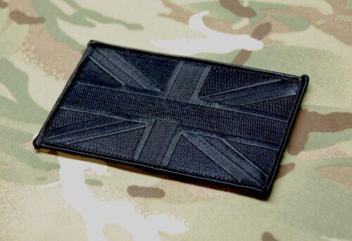 """Blackout Large UK Flag Patch 5/"""" x 3/"""" SAS SBS SRR SFSG USKSF Police Ghost SWAT"""