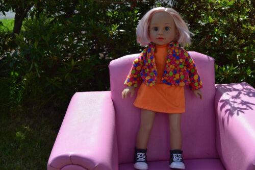 """Stivali American 18/"""" Sophie i capelli biondi Ragazze Bambola Arancione Vestito @Doll VESTITI"""
