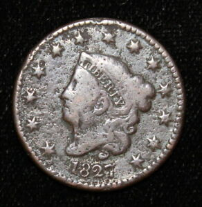 1827 Fine Details Large Date Coronet Large Cent