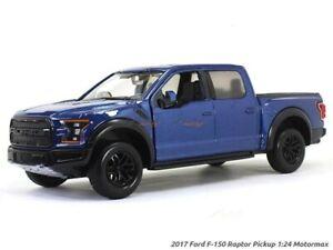 Motormax-1-24-escala-2017-Ford-F-150-Raptor-Azul-79344-modelo-de-coche-fundido-a-troquel