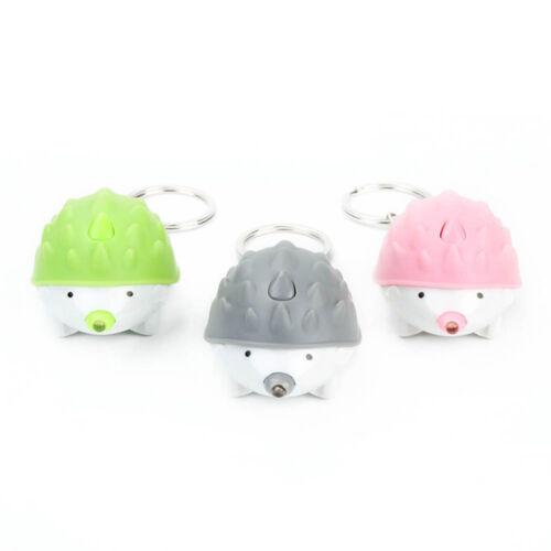 Mini Hedgehog Shape DEL lumineux lampe de poche porte-clés Porte-clés Sac Accessoires