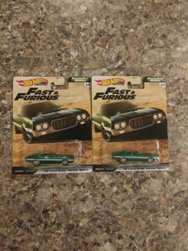 Hot Wheels Fast /& Furious Motor City MUSCLE /'72 Ford Gran Torino Sport LOT OF 2
