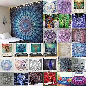 Indisch-Mandala-Tapisserie-Strandtuch-Wandteppich-Wandbehang-Yoga-Matte-Mat-Deko