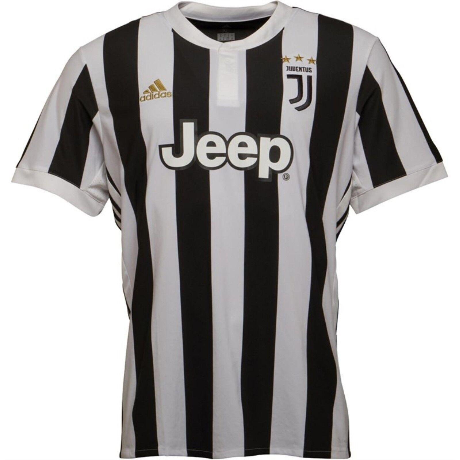 ADIDAS Da Uomo Comando interforze Juventus Maglietta BiancoNeroTaglia XXL