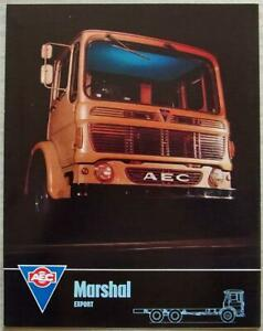 AEC MARSHAL EXPORT Truck Commercial Sales Brochure Apr 1966 #959 4.66