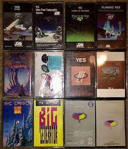 LOT OF 12 YES CASSETTE TAPES (TALK IS SEALED) MUST SEE LOOK!!!