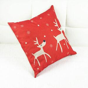 Christmas-Reindeer-Printed-Throw-Pillow-Case-Cushion-Cover-Home-Room-Sofa-Decor