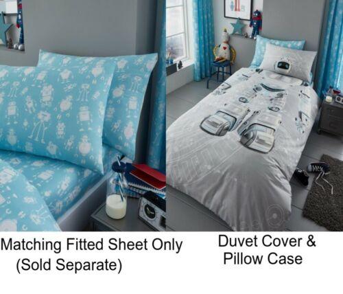 Robot Boys Girls Kids Single Duvet Quilt Cover Children Bedding Set