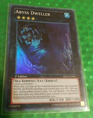 Super Rare Abyss Dweller ABYR-EN084 LP Yugioh 1st Edition