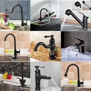 Vessel Kitchen Sink Oil rubbed bronze bathroom kitchen sink vessel faucet waterfall image is loading oil rubbed bronze bathroom kitchen sink vessel faucet workwithnaturefo