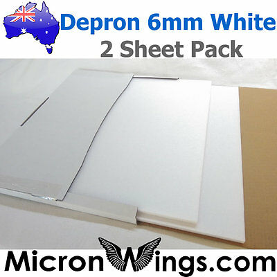 Depron Foam Pack - 6mm White (box of two sheets)