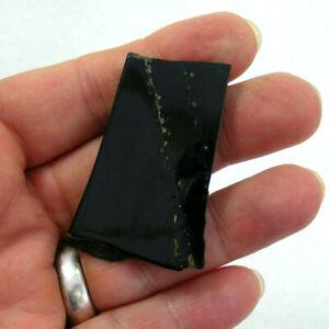 Whitby-Jet-Semi-Polished-Slice-Natural-Black-Gemstone-Specimen-UK-5cm-8g