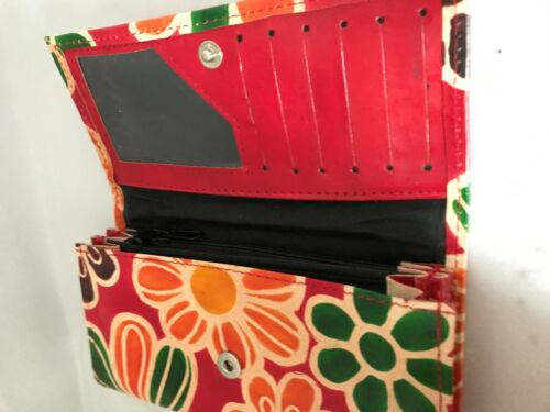 Leder Portemonnaie Kalkutta Fair Trade Echte Bunt Hand Damen Handtasche