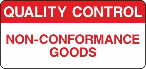 Stock Check Quality Control Safety Non Conformance Sign V6QUAL0035
