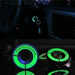 Decor-Car-Decoration-Luminous-Ignition-Switch-Sticker-Glow-Key-Ring-Hole-Cover