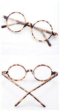 45.70mm Vintage Round Tortoise Shell Eyeglass Frame Full-Rim Clear Lens Glasses