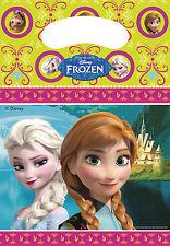 6 Pack Disney congelato Bottino Festa Borsa Regalo Di Compleanno Ragazza in plastica trattare SWEET BAG