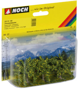 NOCH-25115-Gauge-H0-Tt-N-Lemon-Trees-3-Piece-4-CM-High-New-IN-Boxed