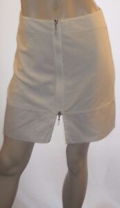 Tommy-Hilfiger-Size-Small-Unique-amp-Sexy-White-Zip-Front-Mini-Skirt-100-Cotton