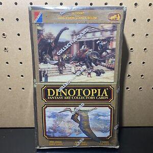 1990-DINOTOPIA-Fantasy-Art-by-J-Gurney-Collectors-Cards-in-sealed-Box-36pks
