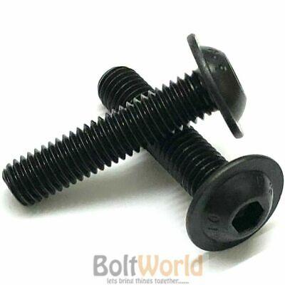 M10 FLANGED BUTTON HEAD SCREWS HIGH TENSILE BLACK ALLEN SOCKET FLANGE BOLTS 10.9